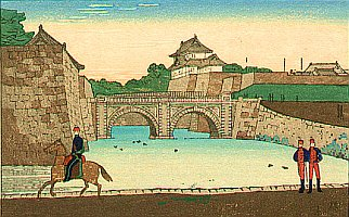 By Yasuji Inoue 1864-1889 - Chiyoda Palace and Nijubashi Bridge