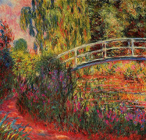Japanese Bridge - Claude Monet
