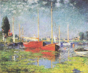 Red Boats - Claude Monet