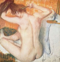 Woman Combing Hair - By Edgar Degas