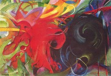 Fighting Forms - By Franz Marc