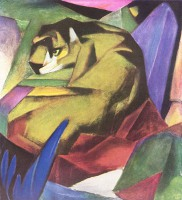 The Tiger - By Franz Marc