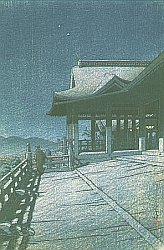 Woodblock Print - Kiyomizu Temple, Kyoto