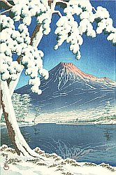 By Kawase Hasui - Mt Fuji after the Snow