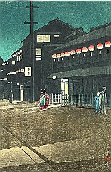 By Kawase Hasui - Soemoncho District in Osaka