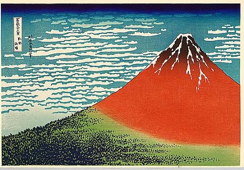 36 Views of Mount Fuji - No. 2 - Red Fuji