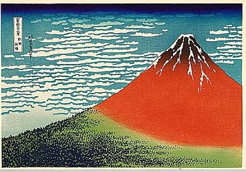 36 Views of Mount Fuji - No. 1 - Red Fuji