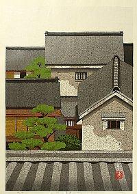 By Ido Masao - Town Scene in Kyoto