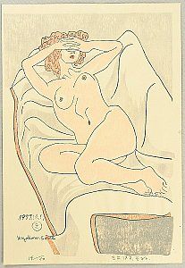 Female Nude on Sofa