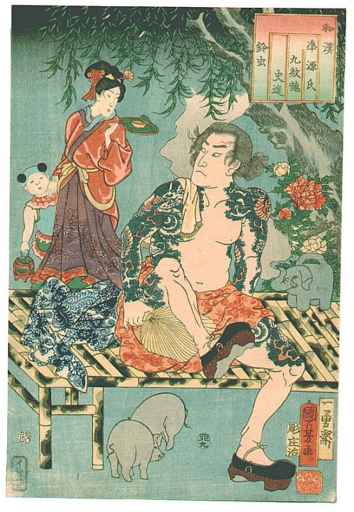Japanese Tattoos IV Kuniyoshi Utagawa Biography Wakan Nazorae Genji
