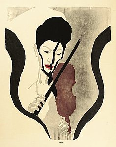 Impression of a Violinist - By Koshiro Onchi