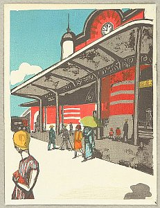 By Koshiro Onchi - Tokyo Station, 1945