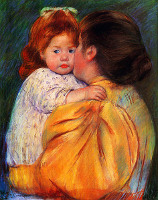 Maternal Kiss - By Mary Cassatt
