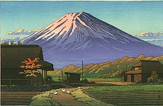 Mount Fuji - seen by Hasui