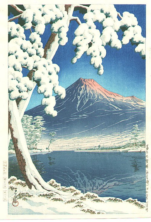 By Hasui Kawase - Mt Fuji after the Snow, 1932