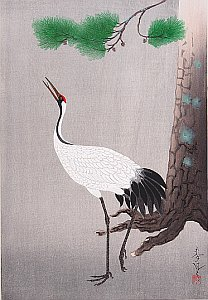 By Ohno Bakufu - Crane and Pine