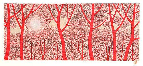 By Tadashige Nishida - Morning Shine (2) Red, 2005