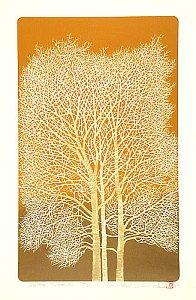 By Tadashige Nishida - White Trees (3), 1997
