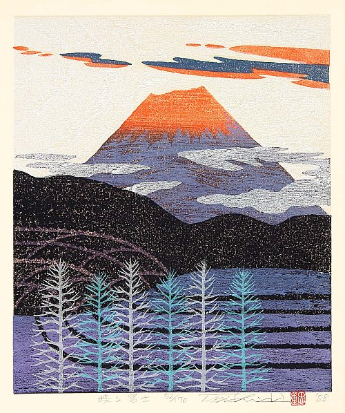 By Tadashige Nishida - Mt. Fuji in Red Glow, 1988