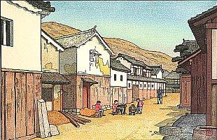 Village in Harima, 1951 - Toshi Yoshida - 1911-1995