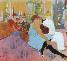 Salon Rue des Moulins - By Toulouse Lautrec
