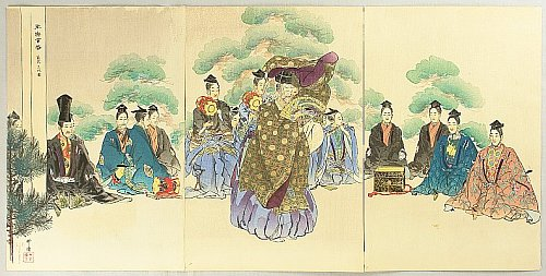 One Hundred Noh Plays - Okina - Tsukioka Kogyo - 1869-1927