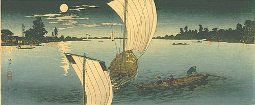 By Hiroaki Takahashi - Edo-gawa - The evening scene of Edo-gawa River