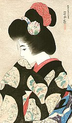 By Shinsui Ito - Contemplating the Coming Spring