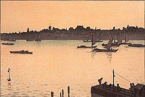 By Hiroshi Yoshida - Sumida River (Evening)