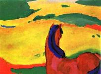 Horse in Landscape - Franz Marc