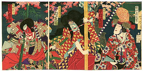 By Chikanobu Toyohara - Kabuki Print by Chikanobu
