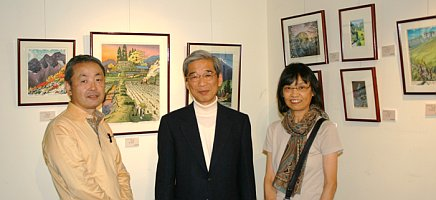 Mr. Osamu Sugiyama with Collectors of his Prints