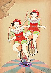 By Ryusei Okamoto born 1949 - Two Acrobats, No.2