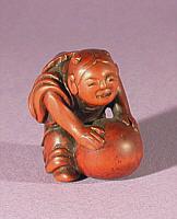 Wooden Netsuke, 19th Century - Japanese Art