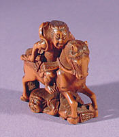 Wooden Netsuke 19th Century