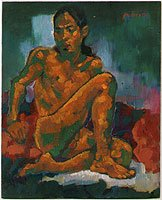 Sitting Male Nude, 2001