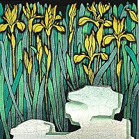 Orchid 1, color woodcut, 1999