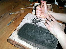 Carving of a Woodblock