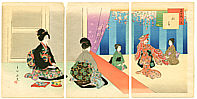 Shuntei Miyagawa 1873-1914 - Dance Performance - Tosei Furyu Tsu