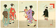 Shuntei Miyagawa 1873-1914 - Hagoita  (Tosei Furyu Tsu)