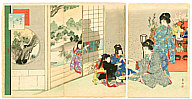 Shuntei Miyagawa 1873-1914 - Dolls Festival  (Tosei Furyu Tsu)