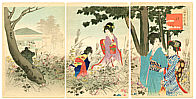 Shuntei Miyagawa 1873-1914 - Autumn Garden - Tosei Furyu Tsu