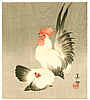 Biho  active  ca. 1900 - Rooster and Hen
