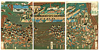 Yoshitsuya Koko 1822-1866 - Battle of Lances