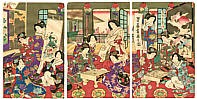 Chikashige Morikawa active ca. 1869-82 - Shogi and Go Players