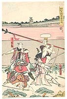 Shuntei Katsukawa 1770-1820 - Hero and Helpers - Iga-mono Kyogen