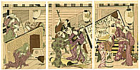 Utamaro Kitagawa 1750-1806 - House Cleaning