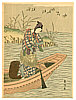 Harunobu Suzuki 1724-1770 - Fisherman and Birds