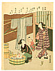 Harunobu Suzuki 1724-1770 - Washing - One Hundred Poems