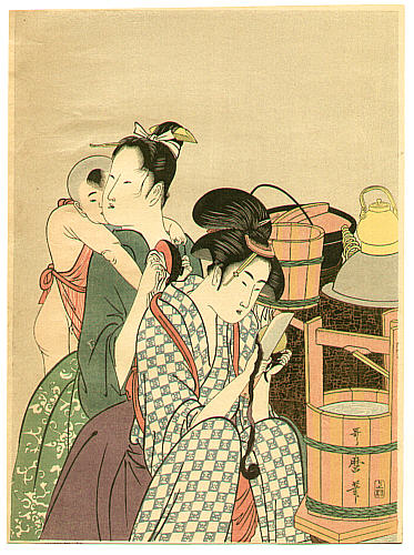 Utamaro Kitagawa 1750-1806 - Kitchen - 1 (Left)